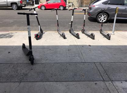 Electric bird scooters Los Angeles